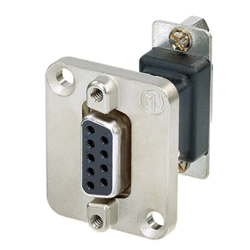 Neutrik 9-Pin D-Sub Female-Female Feed Through Adapter D-Shape Housing (Nickel)