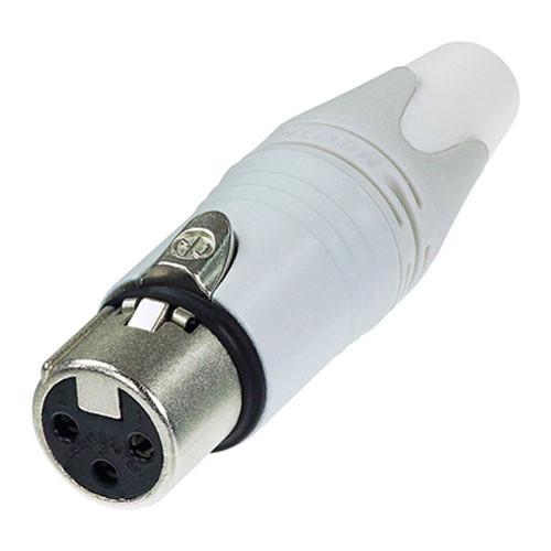 Neutrik NC3FXX 3-Pin XLR Female Connector (White)