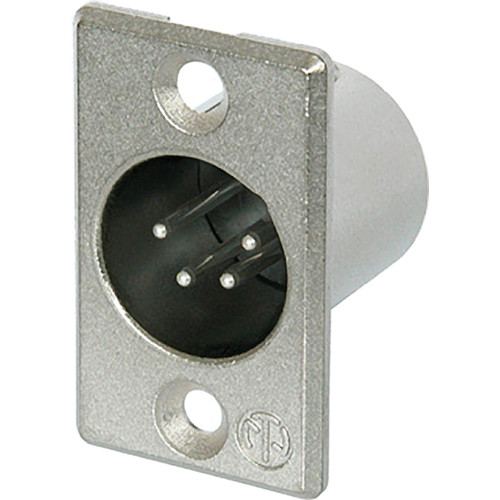 Neutrik 4-Pole Male Receptacle with Soldered Contacts (Nickel Housing, Silver Contacts)