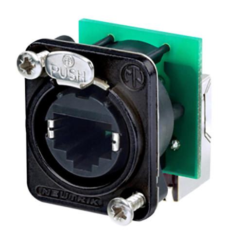 Neutrik EtherCon Series RJ45 Right-Angle Feedthrough Receptacle (Black)