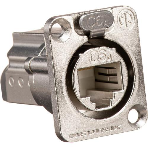 Neutrik EtherCon Series CAT6A Shielded IDC Feedthrough Receptacle (Nickel)