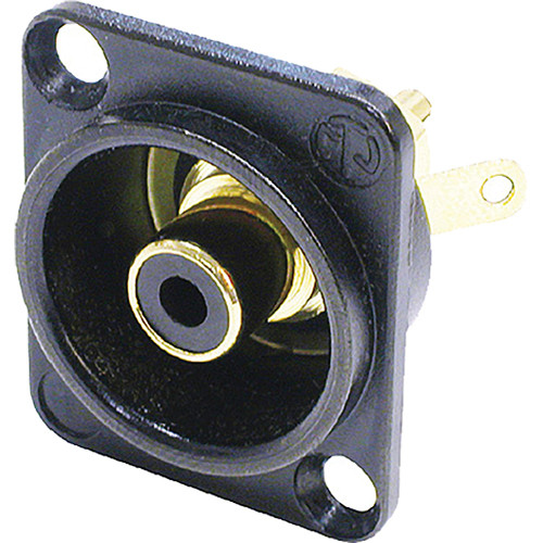 Neutrik NF2D-B-0 Phono (RCA) Female Chassis Connector