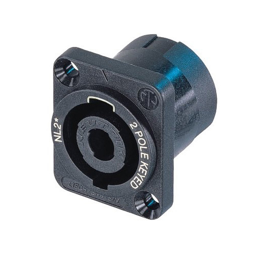 Neutrik NL2MP SpeakON 2-Pole Male Chassis Connector