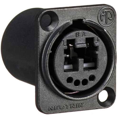 Neutrik Multimode OpticalCon Duo Chassis Connector (Black)
