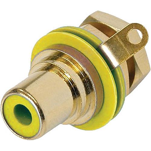 Neutrik RCA Jack Chassis-Mount Socket (Gold/Yellow)