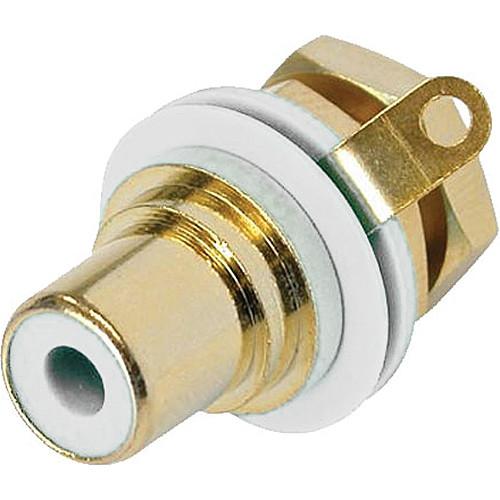 Neutrik RCA Jack Chassis Mount Socket (Gold/White)