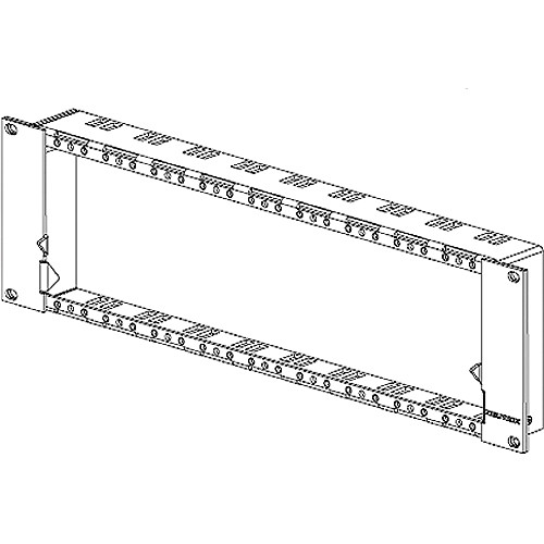 Neutrik 3RU Panel Frame for OpticalCon Connectors