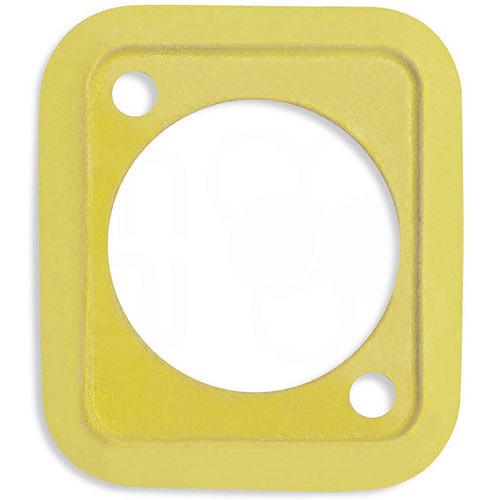 Neutrik Sealing Gasket for D-Shape Front Panel Chassis Connectors (Yellow)