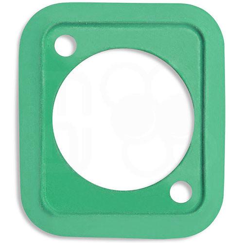 Neutrik Sealing Gasket for D-Shape Front Panel Chassis Connectors (Green)