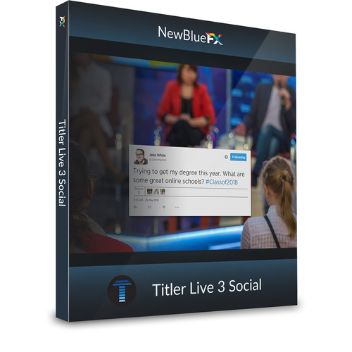 NewBlueFX Titler Live 3 Social