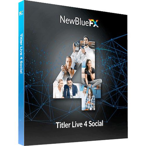 NewBlueFX Titler Live 4 Social (Download)