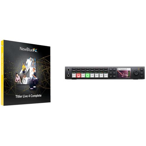 NewBlueFX Titler Live 4 Complete & ATEM Television Studio HD Kit