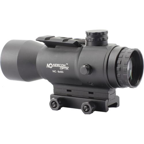 Newcon Optik 6x50 Reflex Sight (Red-Green Mil-Dot Illuminated Reticle, Matte Black)