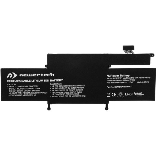 """NewerTech NuPower Battery for MacBook Pro 13"""" With Retina Late 2013 To 2015 Models"""