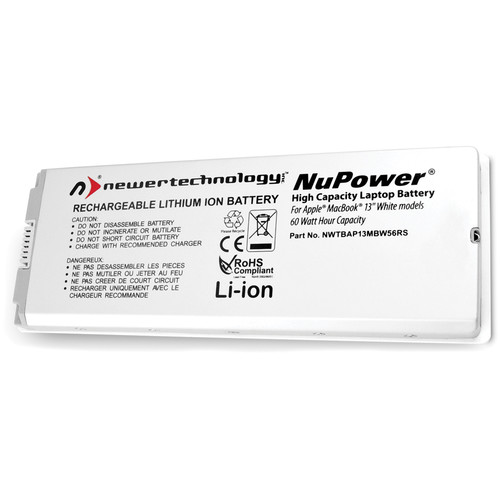"""NewerTech NuPower Battery for MacBook 13"""", Late 2006 to Early 2009 (White)"""