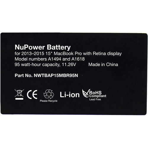 "NewerTech 95W NuPower Battery for 15"" MacBook Pro Retina (Late 2013 to Mid 2015)"