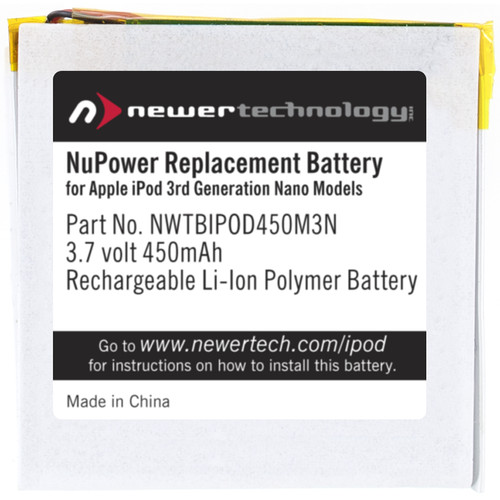 NewerTech 450mAh NuPower Replacement Battery for Apple iPod nano 3rd Generation