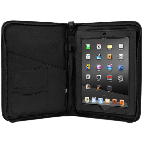NewerTech iFolio Premium Leather Case-Holder/Folio for iPad 1-4 Gen (Black)