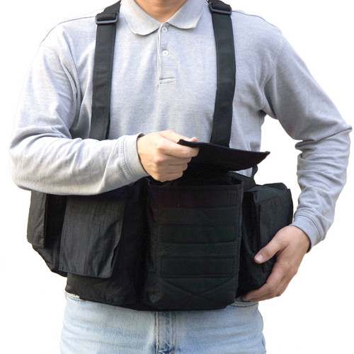 Newswear Mens Digital Chestvest (Black)