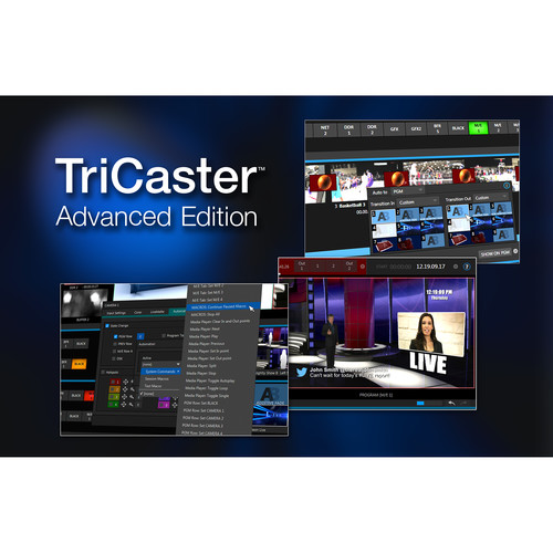 NewTek TriCaster Advanced Edition Software for TriCaster Mini SDI Switchers