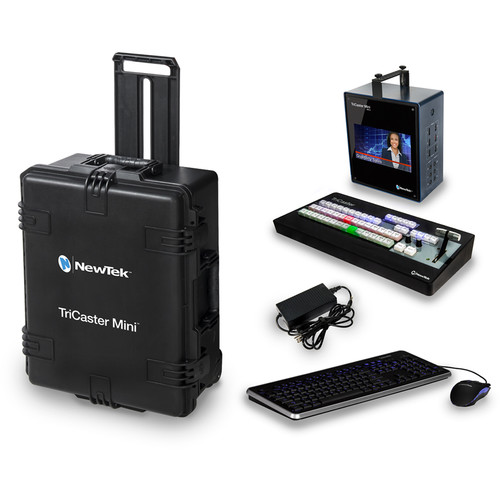 NewTek TriCaster Mini HD-4sdi Bundle with Control Surface, Travel Case, LiveText, and Virtual Set Editor (Educational Version)