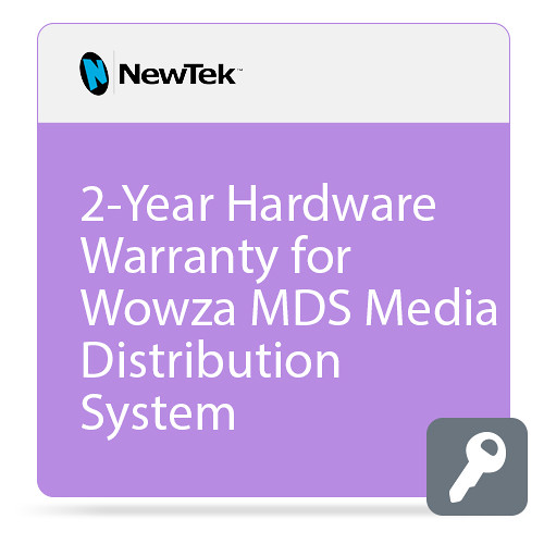 NewTek 2-Year Hardware Warranty for Wowza MDS Media Distribution System