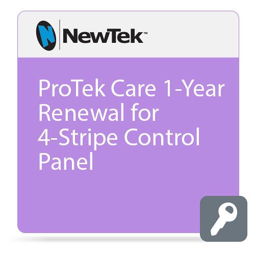 NewTek ProTek Care 1-Year Renewal for 4-Stripe Control Panel
