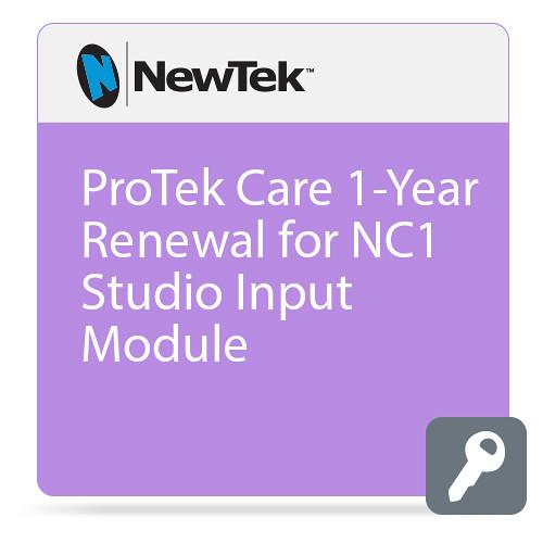 NewTek ProTek Care 1-Year Renewal for NC1 Studio Input Module