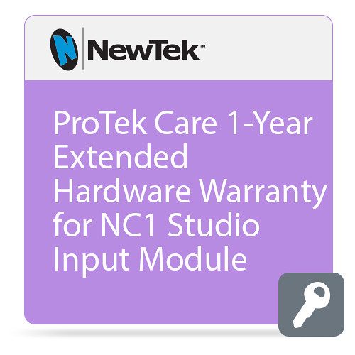 NewTek ProTek Care 1-Year Extended Hardware Warranty for NC1 Studio Input Module