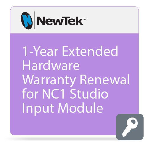 NewTek 1-Year Extended Hardware Warranty Renewal for NC1 Studio Input Module