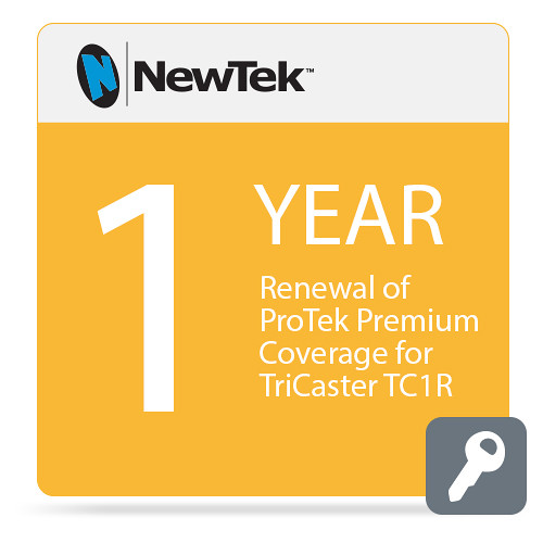 NewTek 1-Year Renewal of ProTek Premium Coverage for TriCaster TC1R (Download)