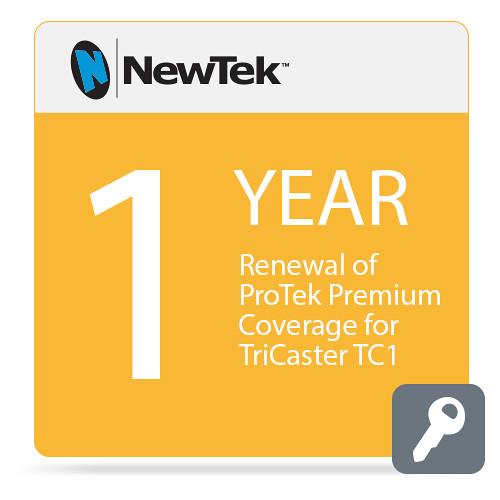 NewTek 1-Year Renewal of ProTek Premium Coverage for TriCaster TC1 (Download)