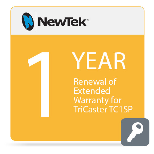 NewTek 1-Year Renewal of Extended Warranty for TriCaster TC1SP (Download)