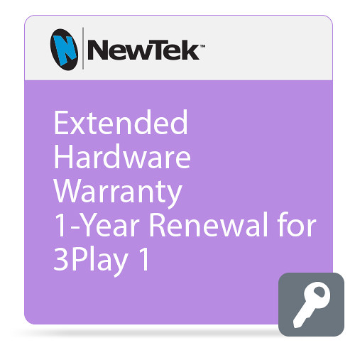 NewTek Extended Hardware Warranty 1-Year Renewal for 3Play 1