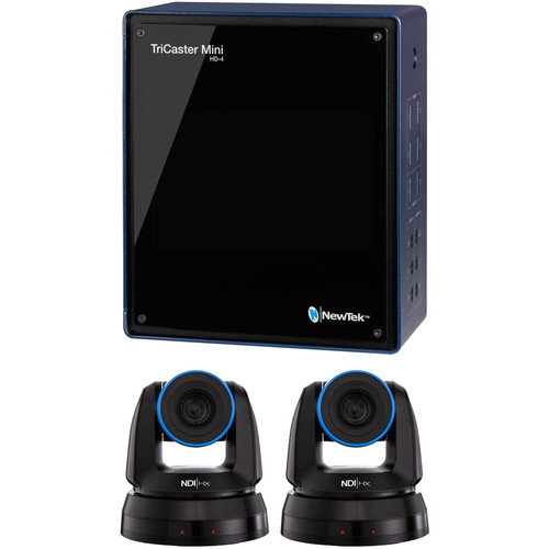 NewTek TriCaster Mini Advanced HD-4i Kit with Control Surface & Two NDI PTZ Cameras