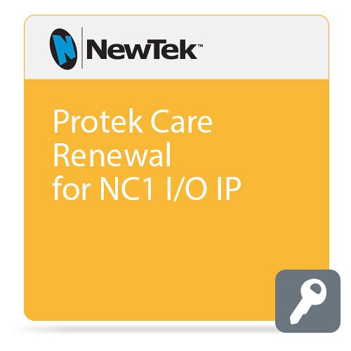 NewTek Renewal Protek Care for NC1 I/O IP (1 Year Renewal)