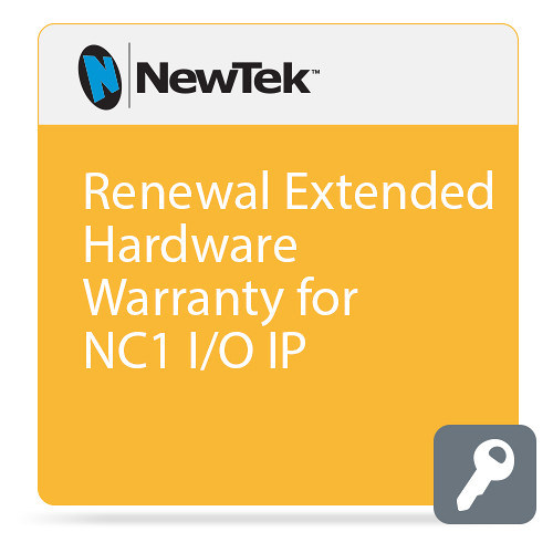 NewTek Renewal Extended Hardware Warranty for NC1 I/O IP (1 Year Renewal)