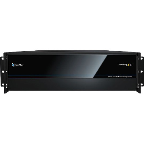 NewTek NRS16  Remote Storage Powered by SNS 16-Bay/96TB with 2x1 GBE Ports,+ 2 More Ports 10 GBE/NRS-2X10G