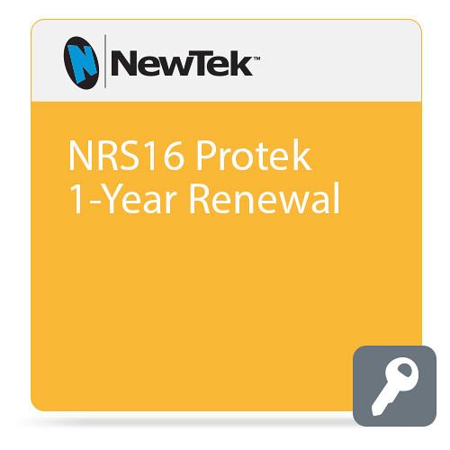 NewTek NRS16  Protek 1-Year Renewal (Premium Service, Remote Support, Extended Warranty  Software Updates)