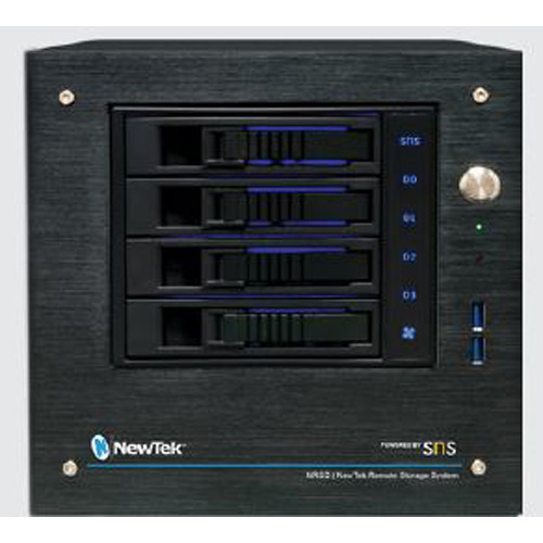 NewTek NRSD Remote Storage by SNS 4-Bay Desktop/24TB with 2x1 GBE Ports Included