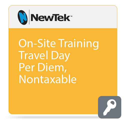 NewTek On-Site Training Travel Day Per Diem, Nontaxable