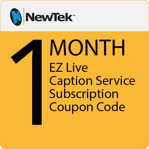 NewTek EZ Live Caption Service (1-Month Subscription)
