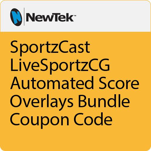 NewTek SportzCast LiveSportzCG Automated Score Overlays Bundle Coupon Code