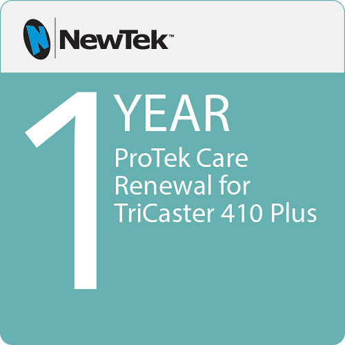 NewTek ProTek Care 1-Year Renewal for TriCaster 410 Plus