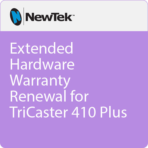 NewTek Extended Hardware Warranty Renewal for TriCaster 410 Plus
