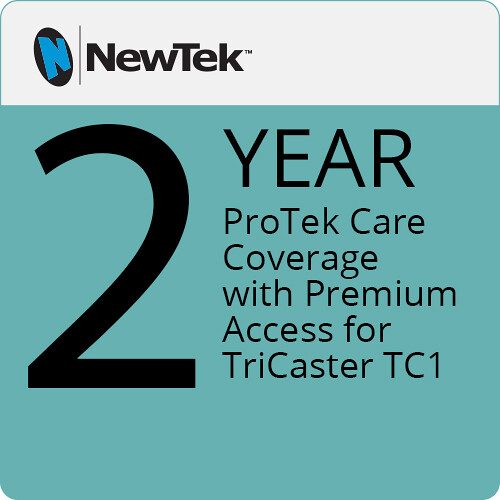 NewTek ProTek Care 2-Year Coverage with Premium Access for TriCaster TC1