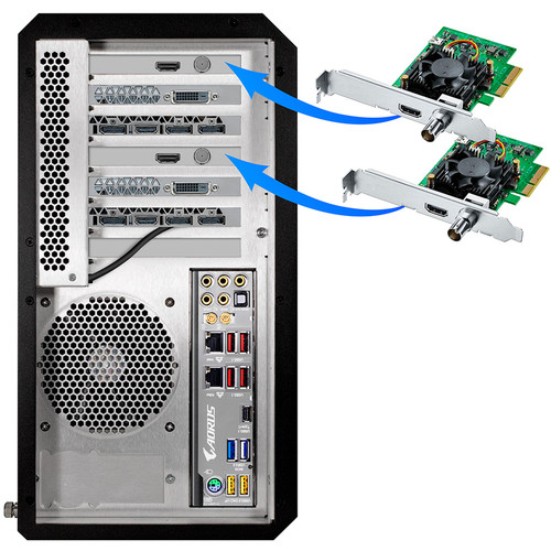 NextComputing Stereoscopic 3D 4K SDI Output PCI Express Cards for Radius Live System