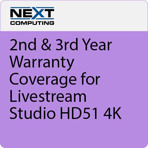 NextComputing 2nd & 3rd Year Warranty Coverage for Livestream Studio HD51 4K