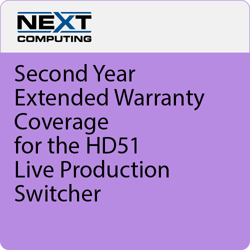 NextComputing 2nd Year Warranty Coverage for Livestream Studio HD51