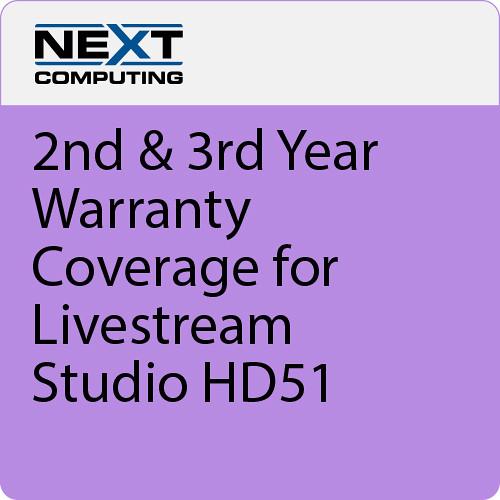 NextComputing 2nd & 3rd Year Warranty Coverage for Livestream Studio HD51